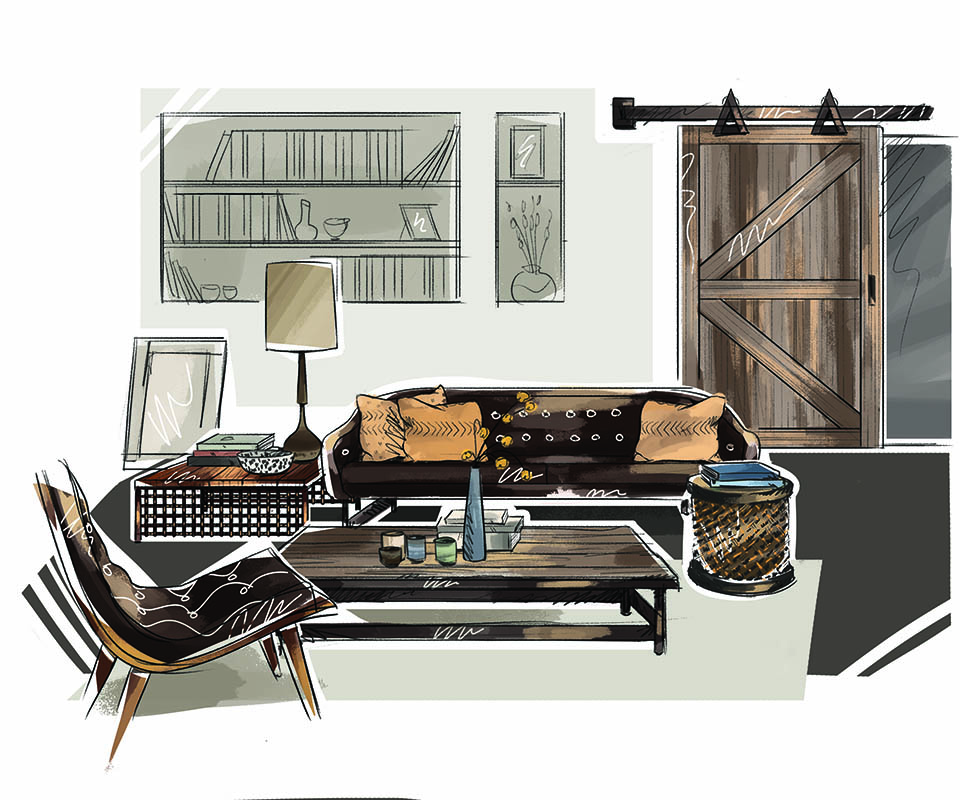 Newport beach magazine industrial chic design inspiration for Industrial chic style