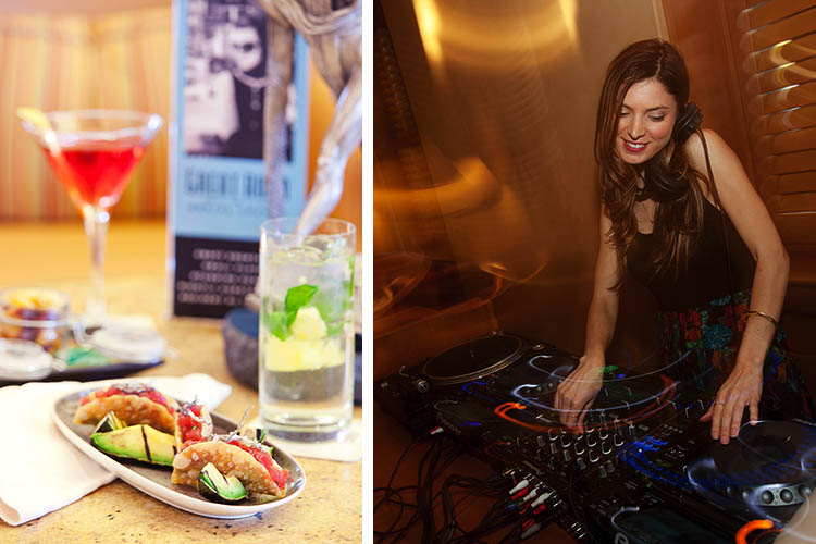 The Great Room Social Lounge has a new look as well as new offerings which range from a menu of Asian and Latin American-inspired finger foods to DJs spinning until midnight Tuesday through Saturday.
