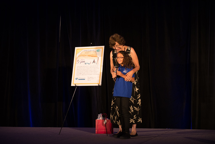 Linda Clinard with Yamileth, a Literacy Project graduate | Courtesy of The Literacy Project