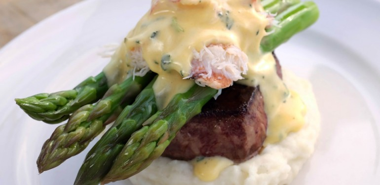 Five Crowns' beef steak Neptune | Courtesy of Five Crowns