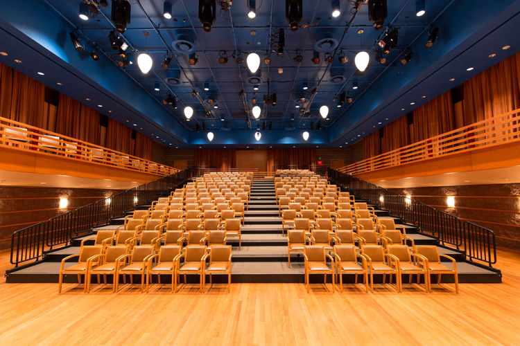"""Samueli Theater is the ideal venue for """"sensory friendly"""" shows due to its size and seating configuration. 