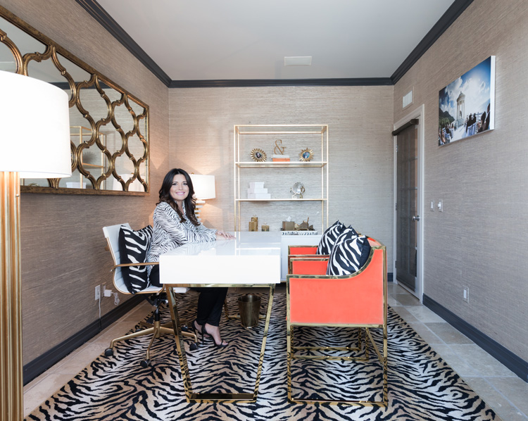 With help from Dawn Rosenmayr of Rosenmayr Interiors, Nicole Wozny based her home decor on her love of fashion—especially animal prints—as well as her world travels. | Photo by Duke Loren