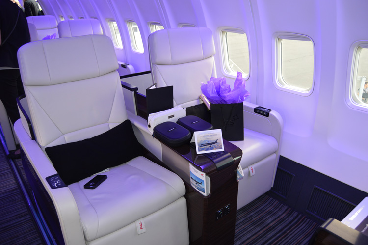 The Four Seasons private jet features 6.5 feet of personal space for passengers.