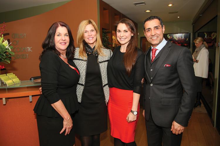 Janet Latino, Cindy Byrne, Kristin Lohrer, Dr. Kevin Sadati