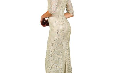 Grayse Crystal Illusion Gown
