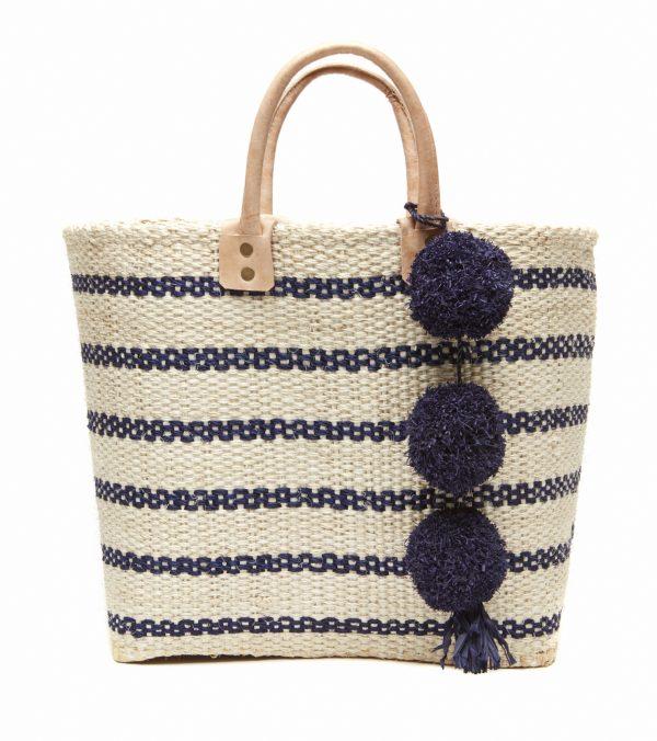Navy Tybee Tote Bag