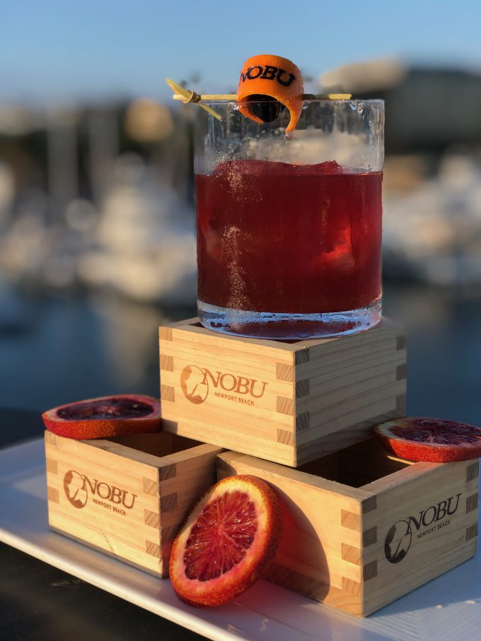 Nobu's Blood Orange Old-Fashioned.