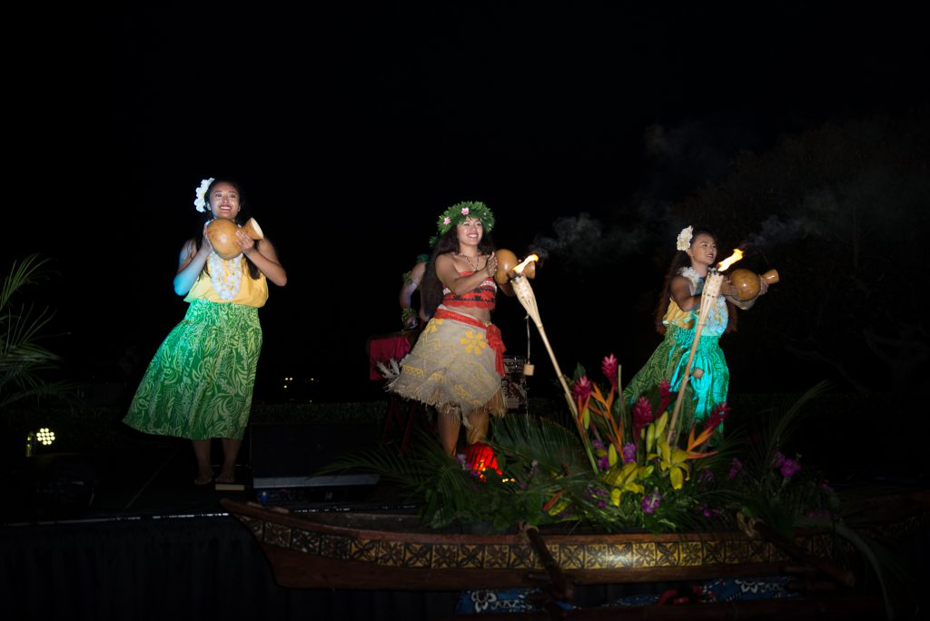 Hula dancing at Newport Beach Luau