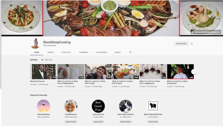 Black Sheep cooking YouTube