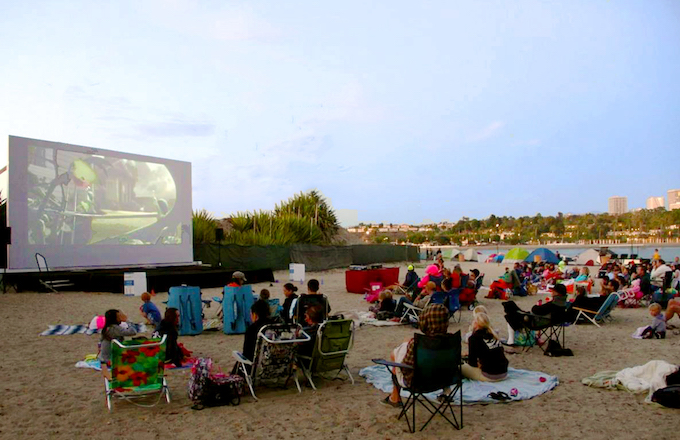 movies on the beach-credit Courtesy of Newport Dunes Waterfront Resort