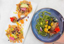 Cultivar vegetarian tacos and grilled chicken breast_credit Ashley Ryan