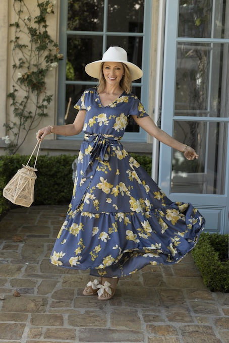 Designer Jessica Johnson wearing the Sophia-Dress_credit Dominic Petruzzi