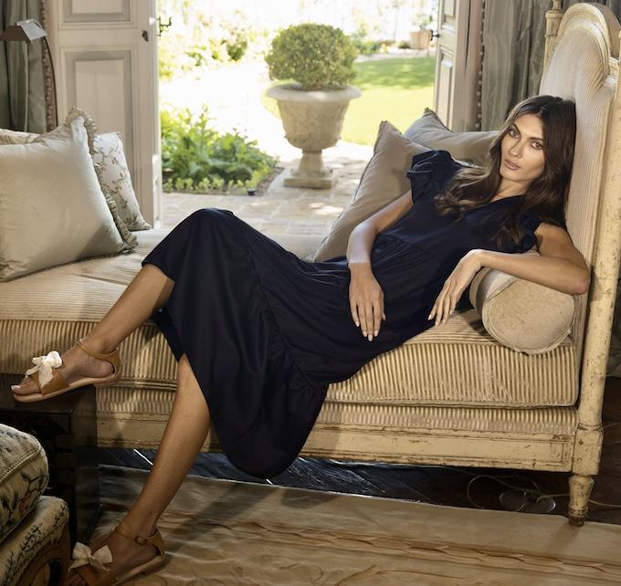 Jessica-Johnson_Isabella-Dress&Esquivel-Sandals-1_credit Dominic Petruzzi