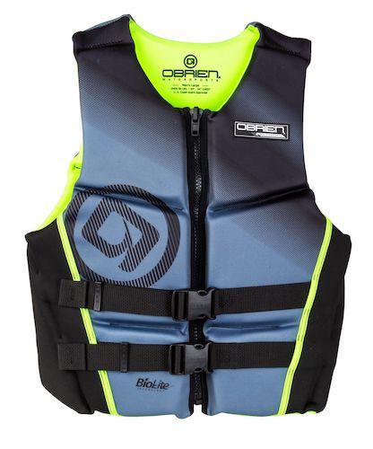 O'Brien Men's Flex V-Back Neoprene Life Vest lime green